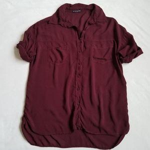 Brandy Melville button up short sleeve shirt top